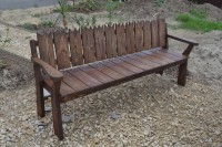 Деревянная садовая скамейка, цвет палисандр