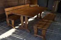 Мебель садовая из дерева, цвет орех