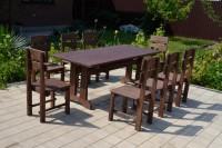 Садовая мебель из дерева для кафе, бани, дачи, цвет палисандр