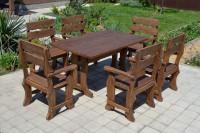 Садовая и банная мебель из дерева, стол и кресла, цвет орех