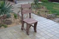 Уличный стул из массива сосны, цвет палисандр