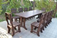 Деревянный садовый стол и стулья, цвет палисандр