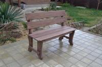 Скамейка для дачи и бани из массива сосны