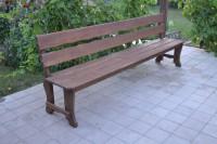 Уличная скамейка из массива сосны, цвет палисандр