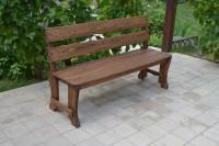 Садовая скамейка из дерева, цвет орех