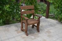 Кресло из массива дерева уличное, цвет орех