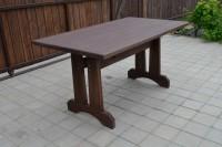 Уличный деревянный стол, цвет палисандр