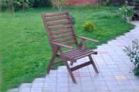 Кресло шезлонг из дерева, цвет палисандр