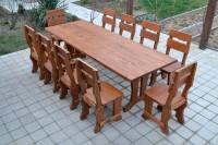 Садовый стол и стулья из массива дерева, цвет тик