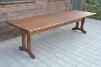 Стол деревянный для дачи и сада, цвет орех