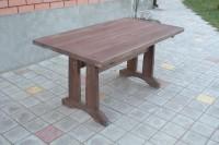 Садовый стол из дерева, цвет палисандр