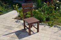 Садовый стул из массива сосны, цвет палисандр
