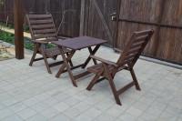 Мебель для дачи, стол и кресла, цвет палисандр