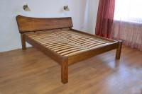 Кровать из слэба дерева, цвет орех