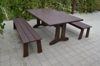 Мебель садовая из дерева, цвет палисандр