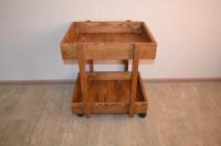 Столик сервировочный из массива дерева, цвет орех