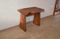 Столик приставной из массива дерева, цвет орех