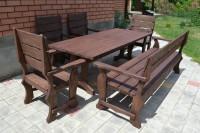 Садовая мебель из дерева, стол, кресла, диван