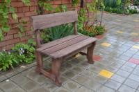 Уличная скамейка из дерева для беседки, цвет палисандр