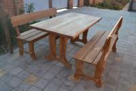 Садовая мебель из дерева, цвет тик