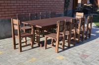 Мебель садовая: стол и стулья из дерева
