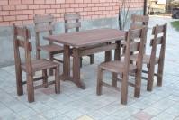 Мебель для кафе из дерева, стол и стулья