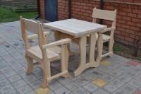 Мебель для кафе, бара, ресторана из дерева, стол и кресла