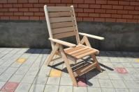 Кресло шезлонг из дерева для бани и сауны
