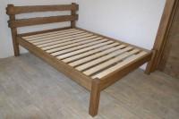 Кровать из дерева, цвет орех
