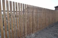 Деревянный забор из штакетника под ключ