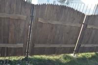 Забор из дерева под старину