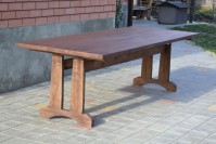 Стол из дерева для кафе, бара, ресторана, цвет орех