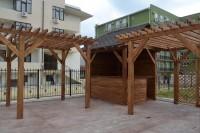 Деревянный бар у бассейна, изготовление под ключ в Анапе